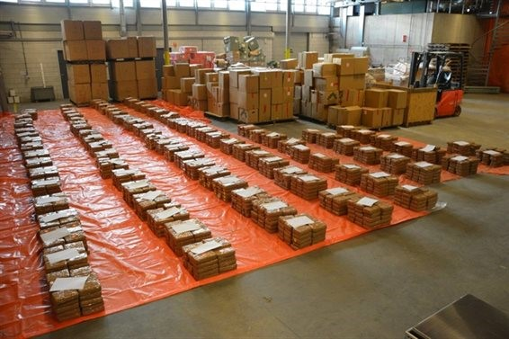 Drugs seized at the port of Rotterdam